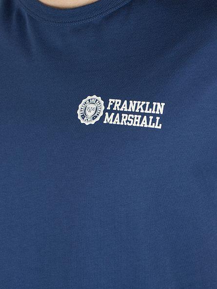 Franklin & Marshall Original Blue Logo T-Shirt