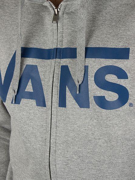 Vans Concrete Grey Classic Zip Logo Hoodie