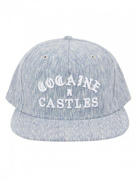 Crooks & Castles Navy Woven Snapback Cocaine Castles Logo Cap