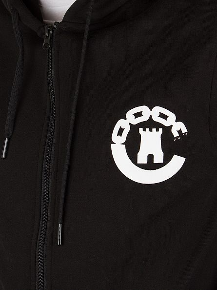 Crooks & Castles Black Logo Zip Hoodie