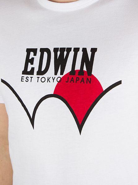 Edwin White Red Dot Japan Logo T-Shirt