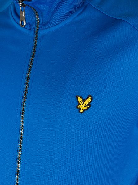Lyle & Scott Deep Cobalt Logo Tricot Zip Jacket