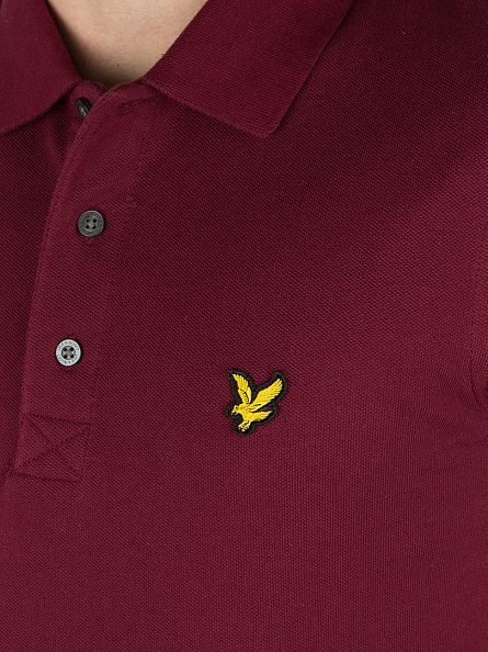 Lyle & Scott Claret Jug Logo Polo Shirt