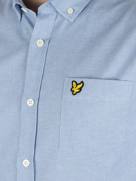 Lyle & Scott Light Blue Chambray Logo Shirt