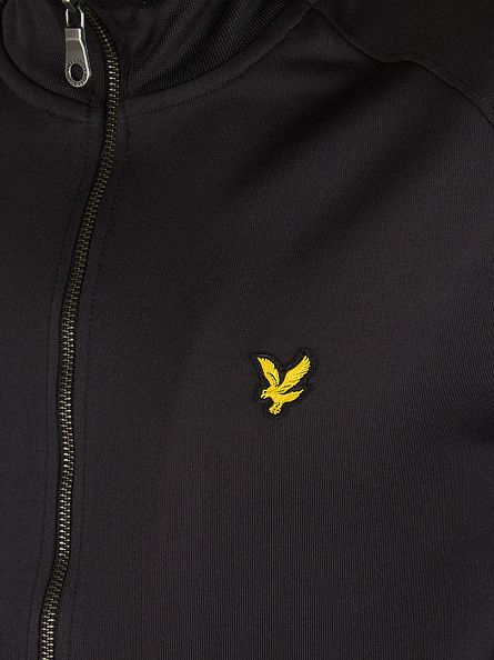 Lyle & Scott True Black Tricot Zip Jacket