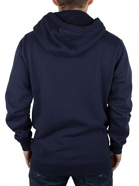 Vans Dress Blue Classic Zip Blotch Logo Hoodie