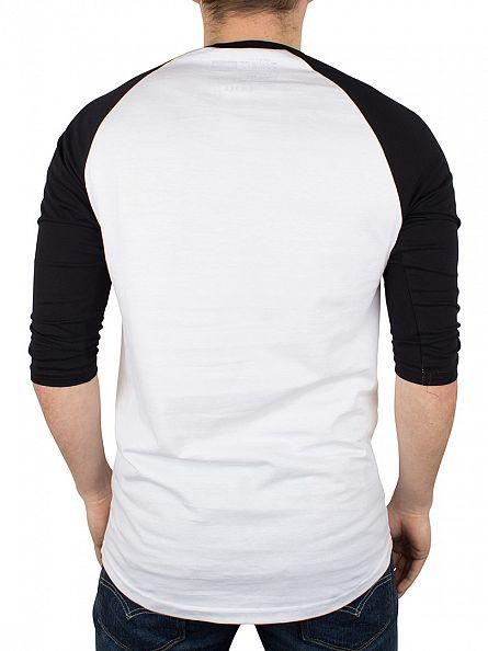 Vans White/Black/Red Classic Logo Raglan T-Shirt