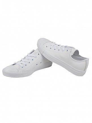 Converse White Mono/White CT All Star Ox Trainers