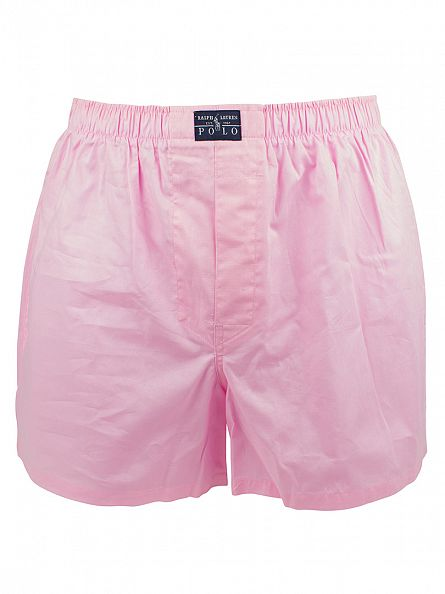 Polo Ralph Lauren White/Blue/Pink 3 Woven Classic Cotton Boxers