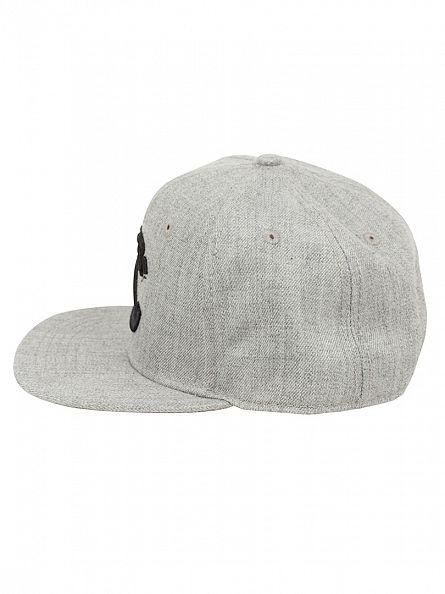 Crooks & Castles Speckle Grey Woven Snapback Hybrid Logo Cap