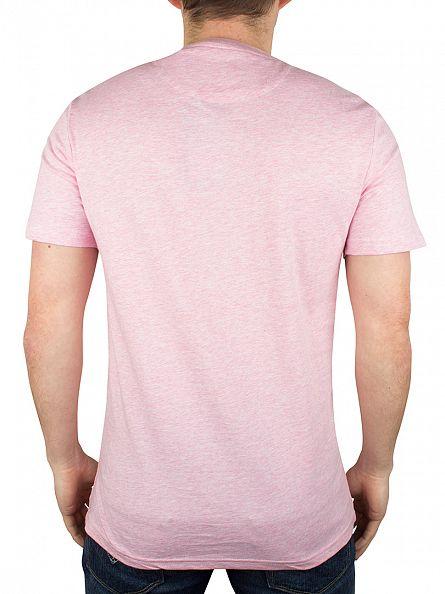 Lyle & Scott Mid Pink Marl Logo T-Shirt