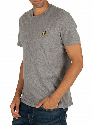 Lyle & Scott Mid Grey Marl Logo T-Shirt