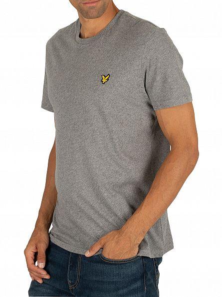 Lyle & Scott Mid Grey Marl Logo T-Shirt
