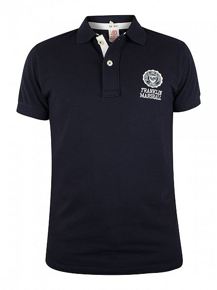 Franklin & Marshall Navy Logo Polo Shirt