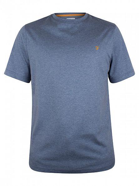 Farah Vintage Slate Blue Denny Marled T-Shirt