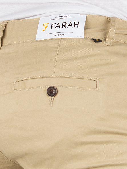Farah Vintage Light Sand Elm Twill Chinos