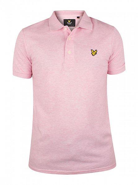 Lyle & Scott Mid Pink Marl Logo Polo Shirt
