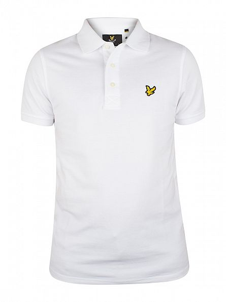 Lyle & Scott White Logo Polo Shirt