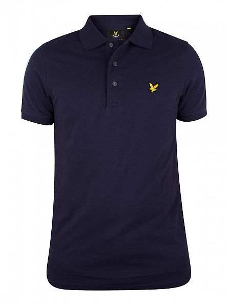 Lyle & Scott Navy Logo Polo Shirt