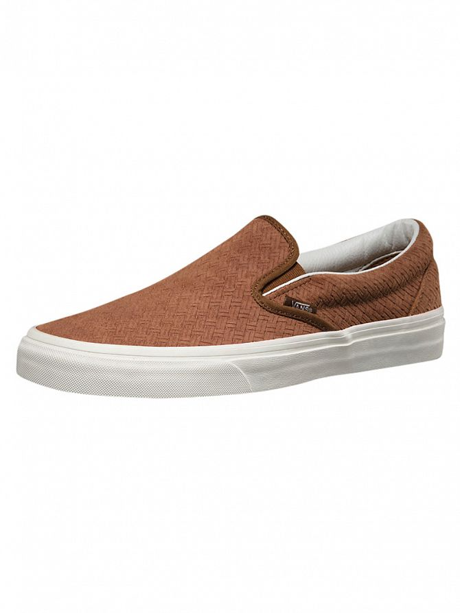 Vans Dachshund Classic Slip-On Braided Suede Trainers
