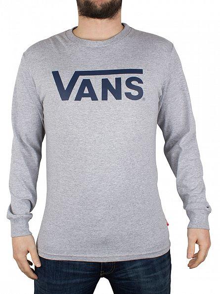 Vans Athletic Heather/Poseidon Classic Logo Longsleeved T-Shirt