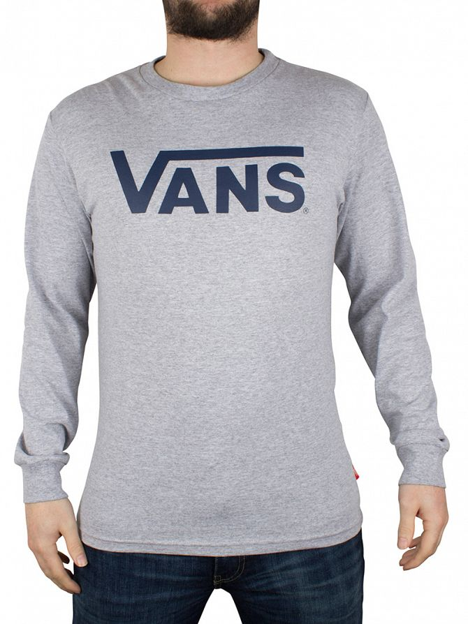 Vans Athletic Heather/Poseidon Classic Logo Longsleeved T-Shirt