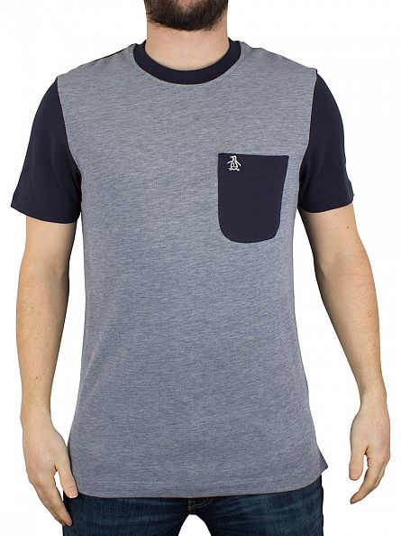Original Penguin Dark Sapphire Dimmer Logo Pocket T-Shirt