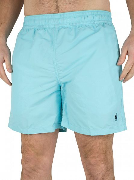 Polo Ralph Lauren Hammond Blue Hawaiian Logo Swim Shorts
