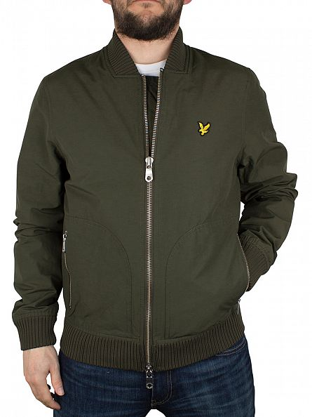 Lyle & Scott Dark Sage Zip Bomber Jacket