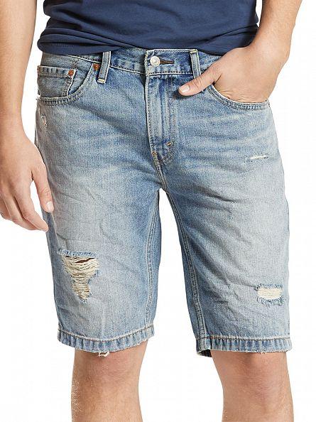 Levi's Light Wash 511 Slim Sunset Junction Denim Shorts