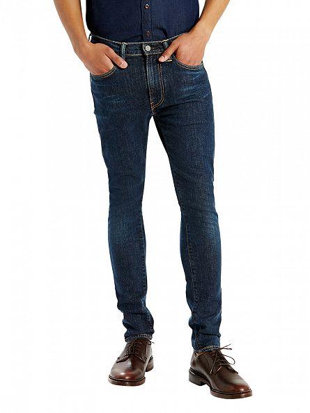 Levi's Dark Wash 519 Extreme Skinny Fit Caesar Jeans