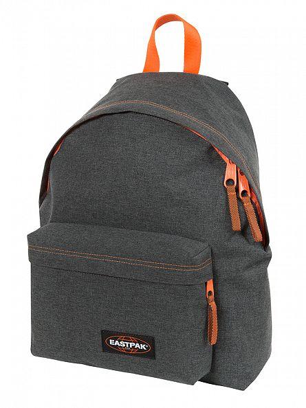 Eastpak Grey/Orange Padded PakR Side Denim Logo Backpack