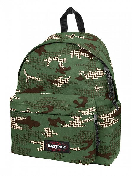 Eastpak Green Camo Padded PakR Night Camtooth Logo Backpack