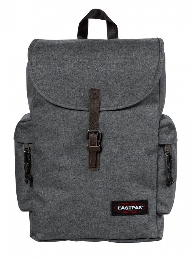 Eastpak Black Denim Austin Logo Backpack