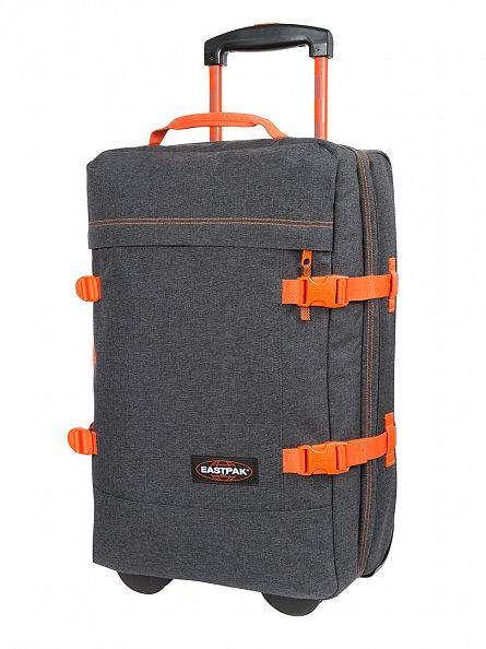 Eastpak Grey/Orange Tranverz S Side Denim Travel Case