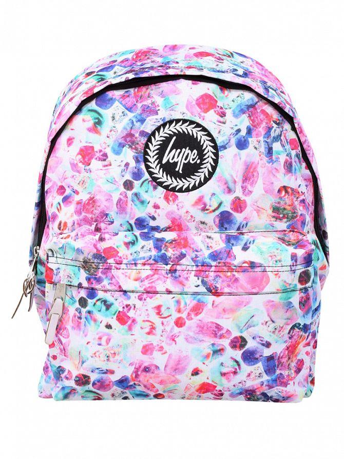 Hype White/Multi Boiled Sweets Logo Backpack