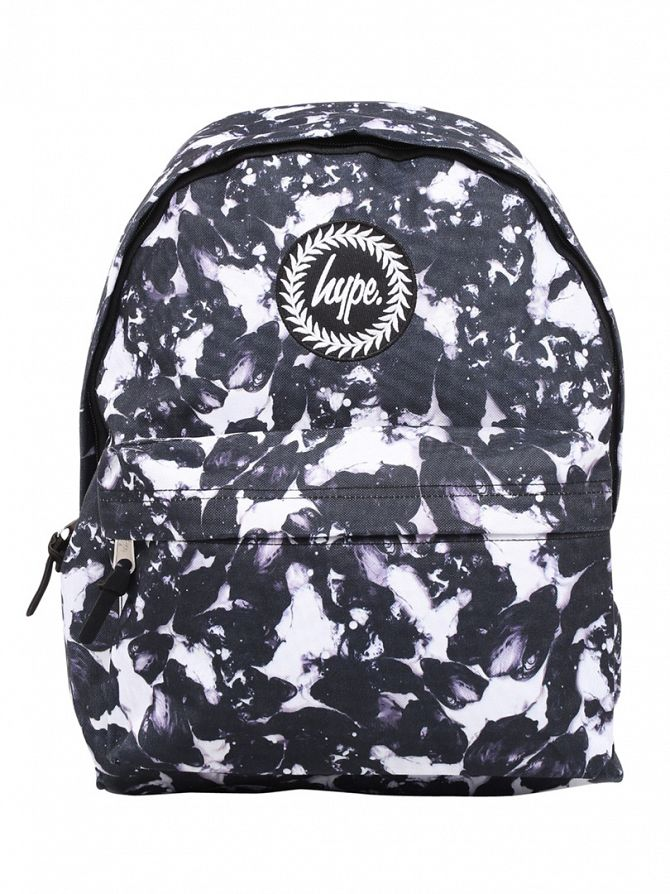 Hype White/Black Monotone Logo Backpack