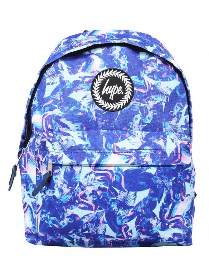 Hype Blue Paint Garden Logo Backpack