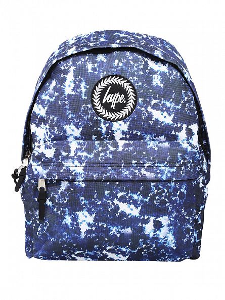 Hype Blue Acid Dye Logo Backpack
