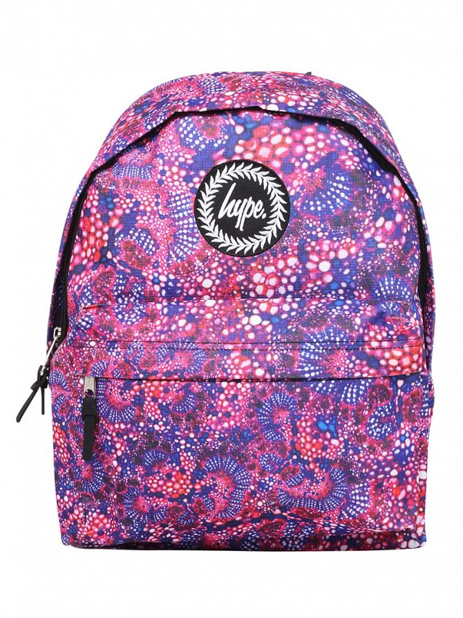 Hype Pink Molecules Logo Backpack