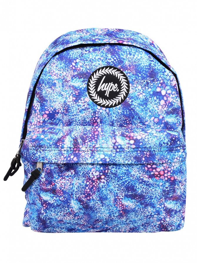 Hype Blue Bubble Gum Logo Backpack