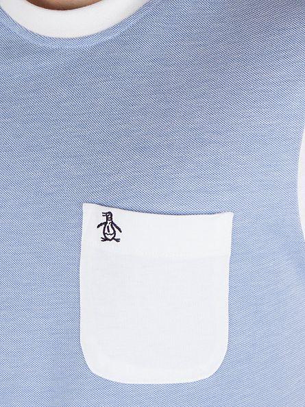 Original Penguin Crystal Blue Dimmer Logo Pocket T-Shirt