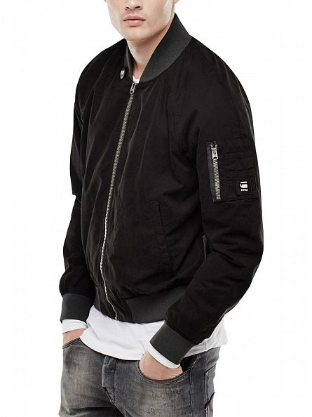 G-Star Black Attacc Bomber Zip Jacket