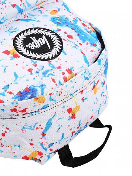 Hype White/Multi Primary Bag Logo Backpack