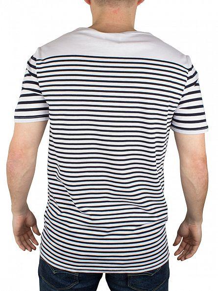 Hilfiger Denim Classic White/Navy Blazer EUR Striped Logo T-Shirt