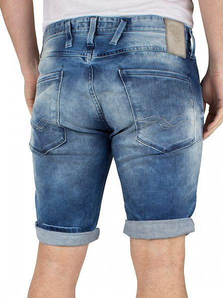 Replay Light Wash Anbass Slim Fitting Denim Shorts