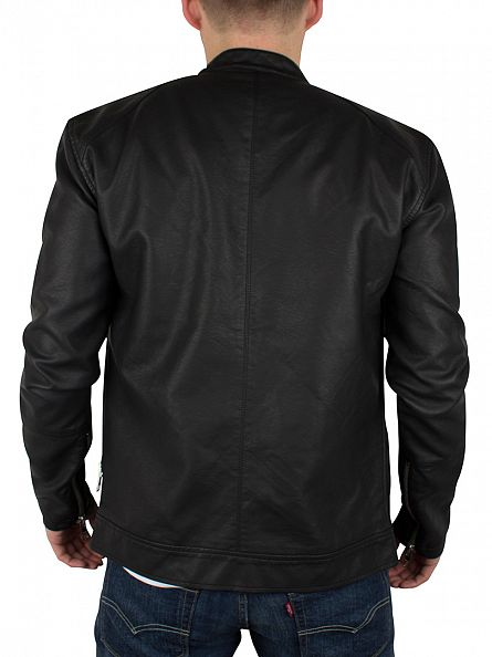 Minimum Jet Black Farman Zip Jacket