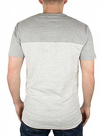 Minimum Glacier Grey Mel Folant Panel T-Shirt