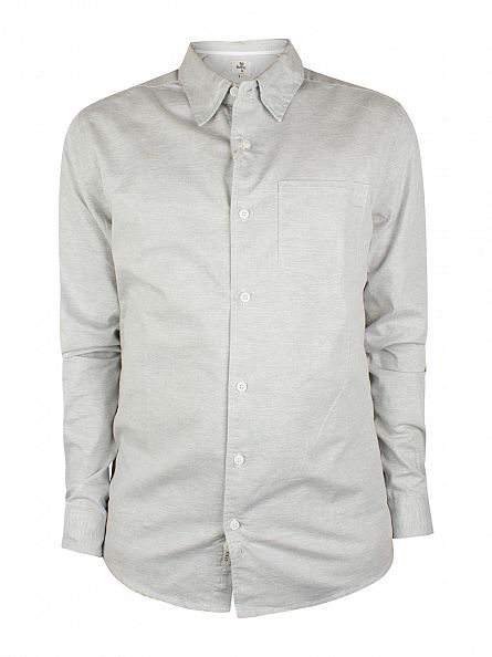 Bellfield Grey Slub Pocket Shirt