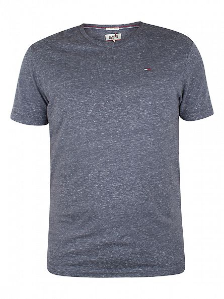 Tommy Hilfiger Denim Black Iris Navy Original Melange Logo T-Shirt